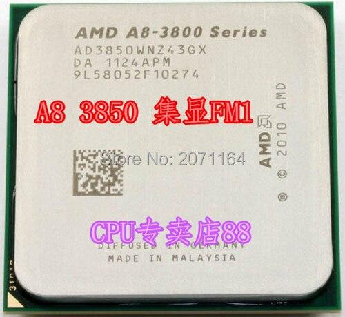 Для AMD A8-3850 APU FM1 четырехъядерный процессор 2.9 Г встроенный графический рабочего процессора