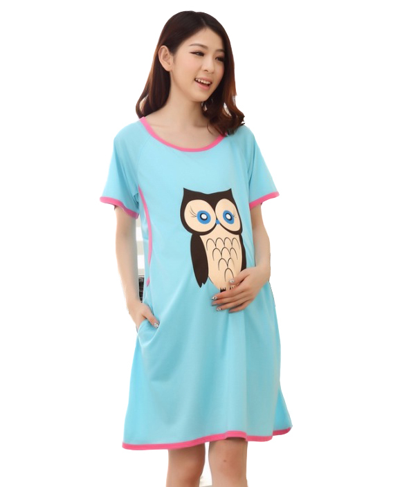 Dress tops pregnant women maternity Breastfeeding dress summer lactating loose cotton dresses pregnancy gravidity clothes