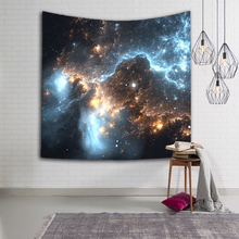 купить Psychedelic Galaxy Hanging Wall Tapestry Space Pattern Print Macrame Tapestry Polyester Home Decorative Tapestries Yoga Mat дешево