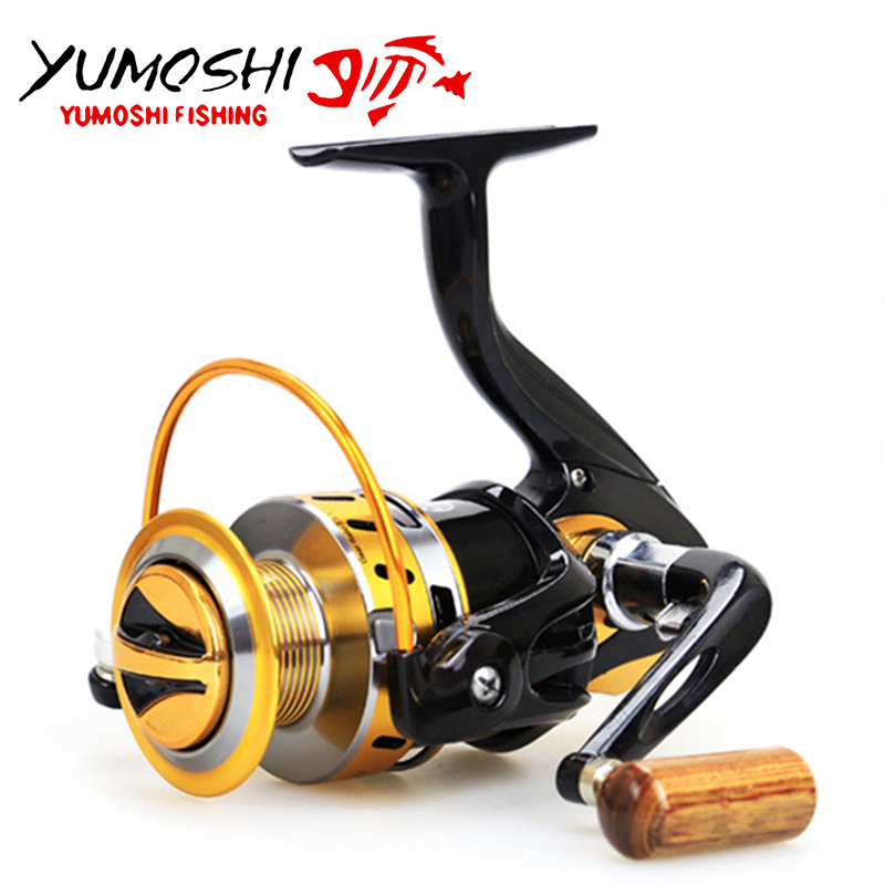 Spinning Fishing Reel Metal Main Body Fishing reel YB 12BB High Speed Spinning Reel Fishing Rear Carp Carretilha Reel