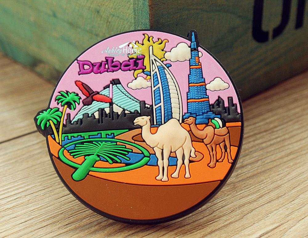 UAE DuBai Tourist Travel Souvenir Rubber Fridge Magnet Worldwide GIFT IDEA
