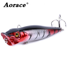 Купить с кэшбэком 1pcs 9cm 12g Big Popper Fishing Lure isca artificial fishing bait Crankbait Wobblers 2# high carbon steel hook Fishing Lures