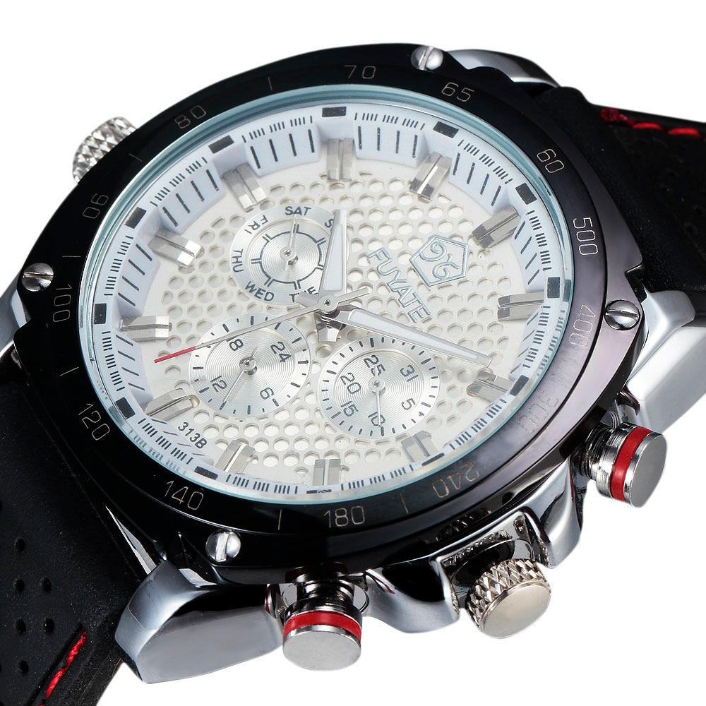 2016 Nieuwe Mode Horloges Heren Luxe Merk Honingraat Auto Kalender - Herenhorloges