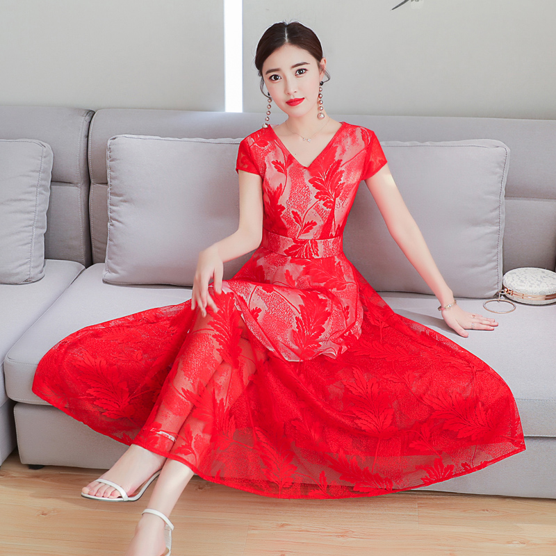 Women's Clothing 2018 New Summer Fashion Embroidery V Neck