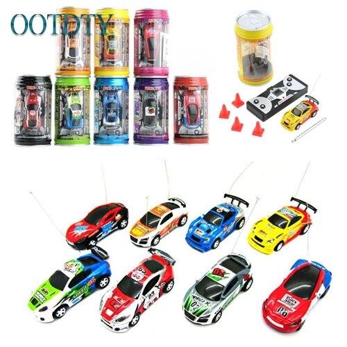 Neue Multicolor Koks Kann RC Radio Fernbedienung Micro Rennwagen Spielzeug Geschenk #330
