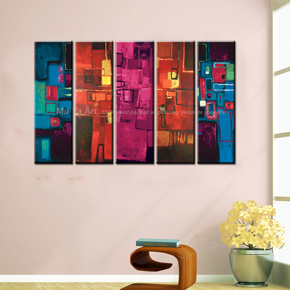 MUYA 5 piece canvas art wall art contemporary acrylic