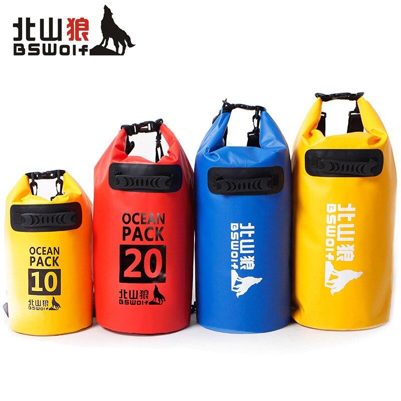 Water bag 10L 20L 30L 40L 5L Outdoor Waterproof Bags Ultralight Camping Hiking Waterproof Dry Bag Pouch Camping Swimming Bags