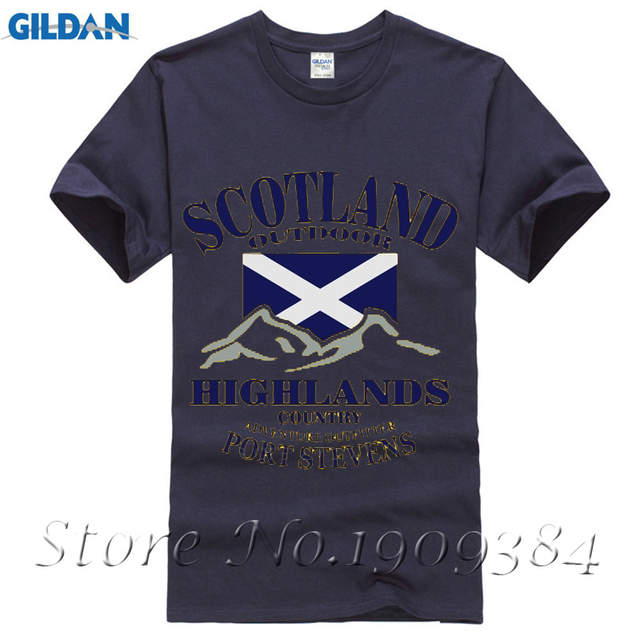 sale retailer a537f 70f39 US $11.3 13% OFF|Funny Cotton Highlands Scotland Flag Man t shirt 2017 psg  liverpool jersey men t shirts Funny T Shirt Hipster-in T-Shirts from Men's  ...