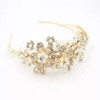 Handmade Bride Hair Bands Handmade Luxury Pearl Crystal Hair Accessory Hair Accessory