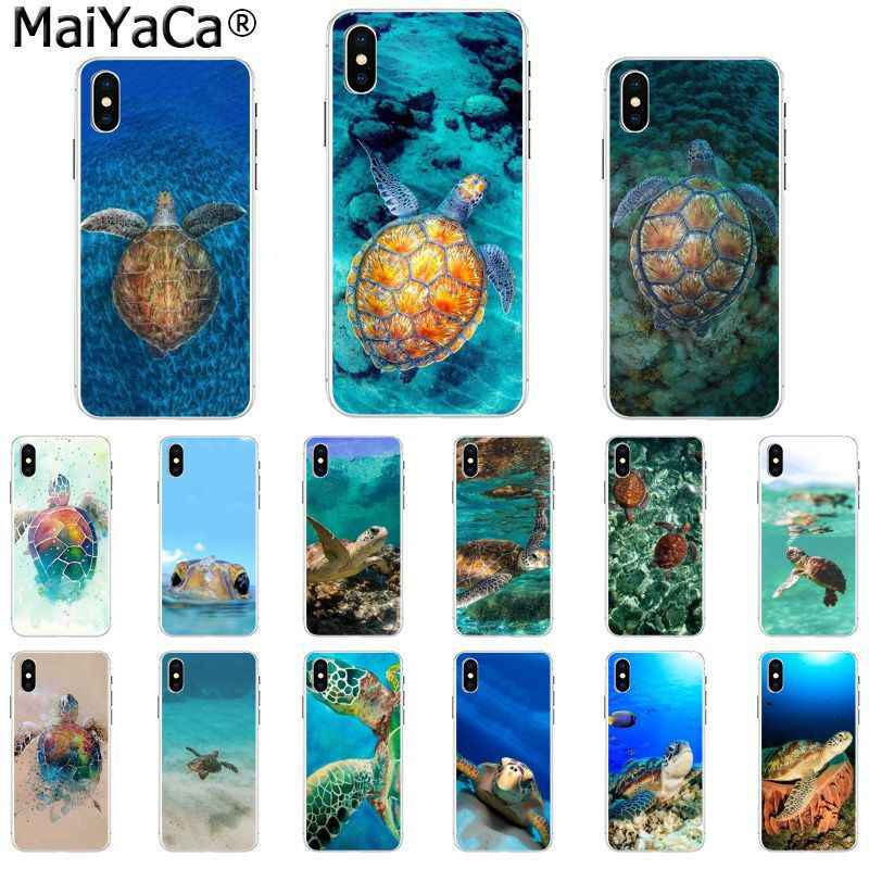 MaiYaCa Marine green turtle tortoise Newly Arrived Fundas Cell Phone Case for Apple iphone 11 pro 8 7 66S Plus X XS MAX 5S SE XR