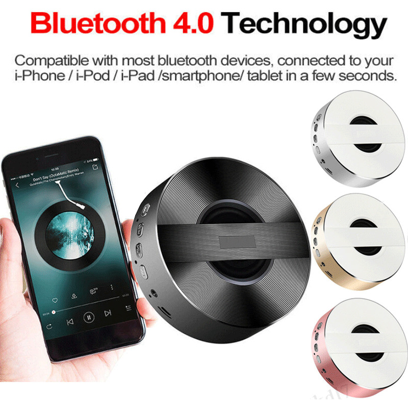 Portable Bluetooth Wireless Speaker Mini BASS Subwoofer High Sound Quality Compatible With Smartphone IPad Tablet(China)