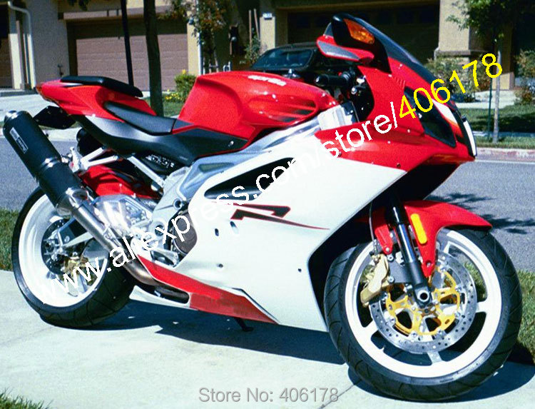 Hot Sales,Sportbik Fairing 03 04 05 06 RSV 1000 Mille R for Aprilia RSV1000 2003-2006 Red White bodykits Motorcycle Fairing police pl 13662jsg 04