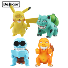 лучшая цена Cute Anime Game Freak Pikachu Bulbasaur Charmander Squirtle Wretched Ver. GK Funny Boxed PVC Action Figure Model Doll Toys Gift