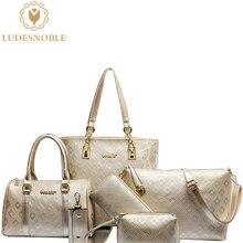 LUDESNOBLE Luxury Handbags Women Bags Designer 6 Bags Set Women Messenger Bag Women Shoulder Bag Female