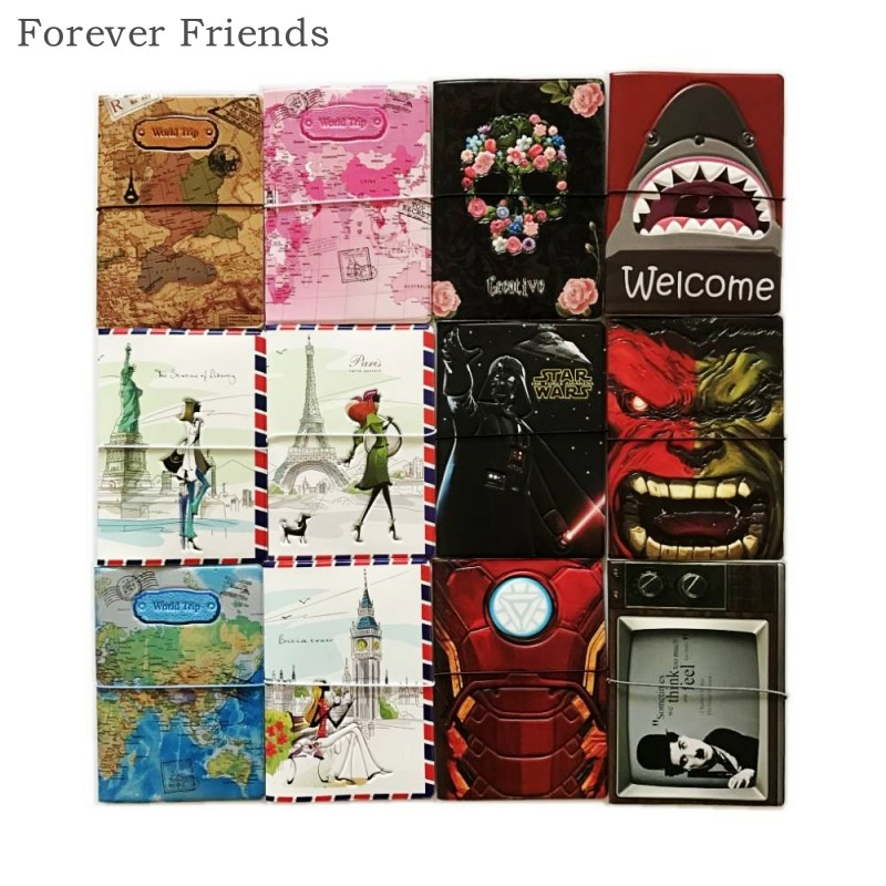 22 Styles for choose  Europe Style 3D Passport Holder PVC Travel Passport Cover Case,14*9.6cm Card & ID Holders Mini Order 1pcs