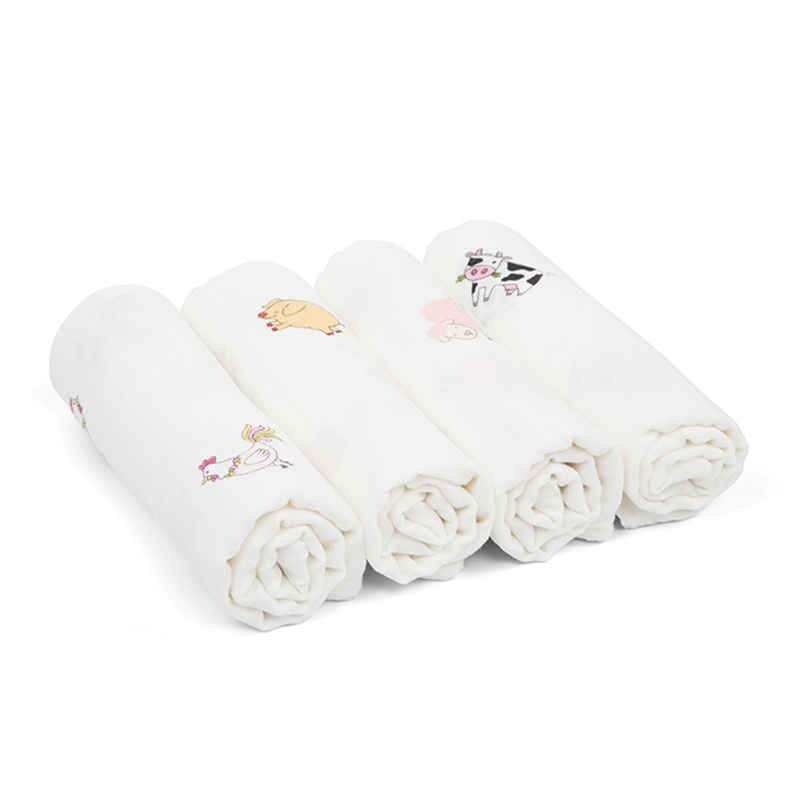 New 2017 Baby Blanket Cute Animals Printed Summer Bath Towel Swaddling Blankey for Neweborn High Quality 100% Cotton Blankets