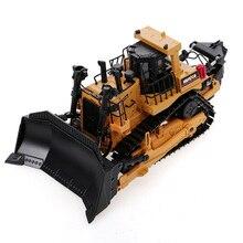 HUINA 1700 1:50 Литой Сплав Тяжелая бульдозерная модель инженерный грузовик статический гусеничный колесный бульдозер развивающие игрушки
