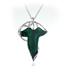 Мода Хоббит Винтаж зеленый эльфийский лист кулон булавка Властелин одного кольца Mo для женщин мужчин ювелирные изделия