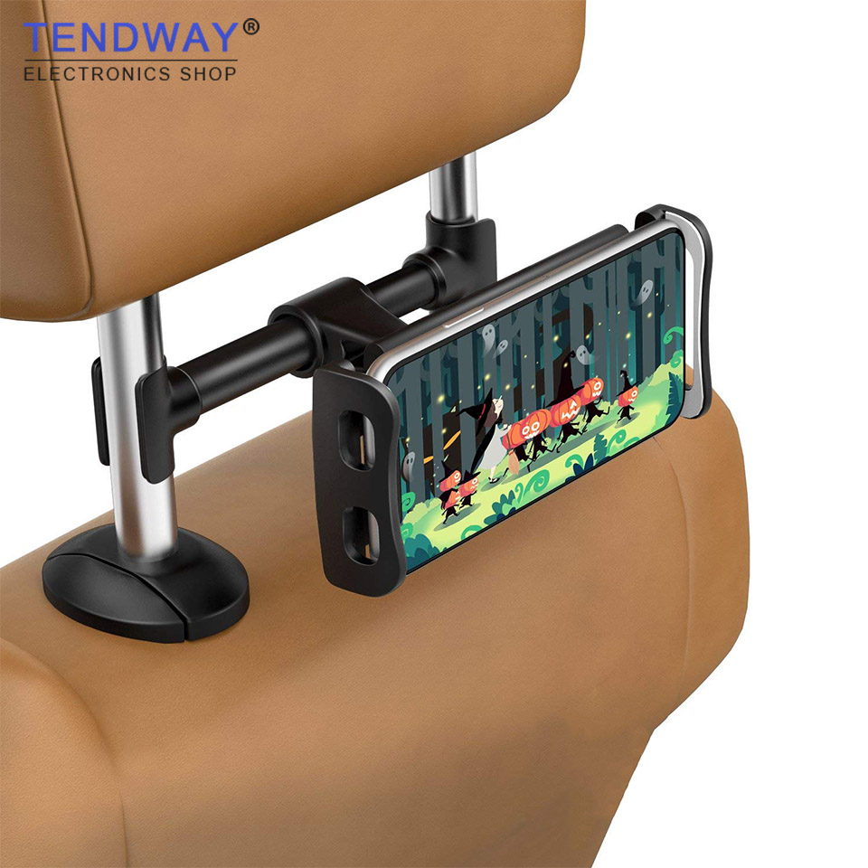 Tendway Tablet Car Holder Back Seat Mount for Ipad Holder Stand 360 Degree Universal Car Headrest Cell Phone Holder Tablet Stand lematec universal 360 degree rotation car seat headrest holder mount for ipad 4 mini 3 air 2 for android for samsung galaxy tab