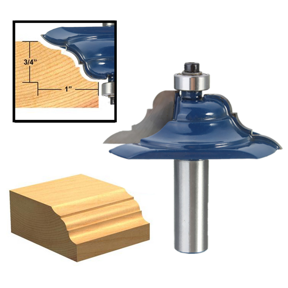 1PC Rail&Stile Router Bit 1/2'' Shank Shaker Door Woodworking Chisel Cutter Power Tool Drill Bit for Wooden Door High Quality high grade carbide alloy 1 2 shank 2 1 4 dia bottom cleaning router bit woodworking milling cutter for mdf wood 55mm mayitr