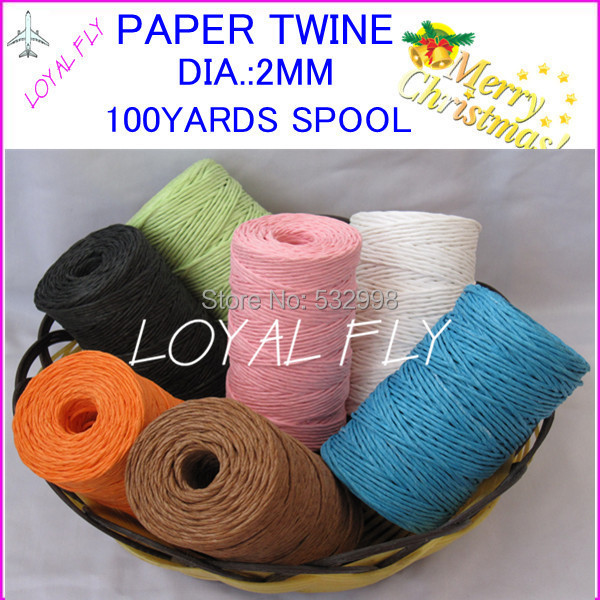 3pcs/lot 10 color Raffia Ribbon/Paper String/Paper Twine - Beautiful - Festive and Party Supplies