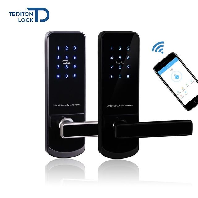 Bluetooth Smart Electronic Door Lock Keypad Mortise Door Lock For Home Airbnb House or Apartment with App Remote Control
