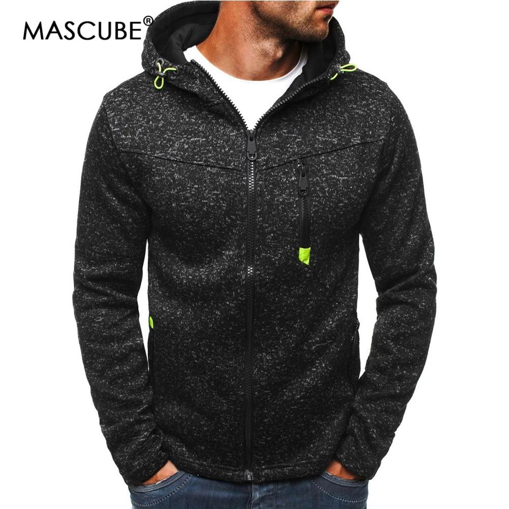 Mascube Males Winter Units Male Cardigan 2018 New Lengthy Sleeve Hoodies Males Zipper Sweatshirt Mens Hooded Plus Dimension Coat Jacket