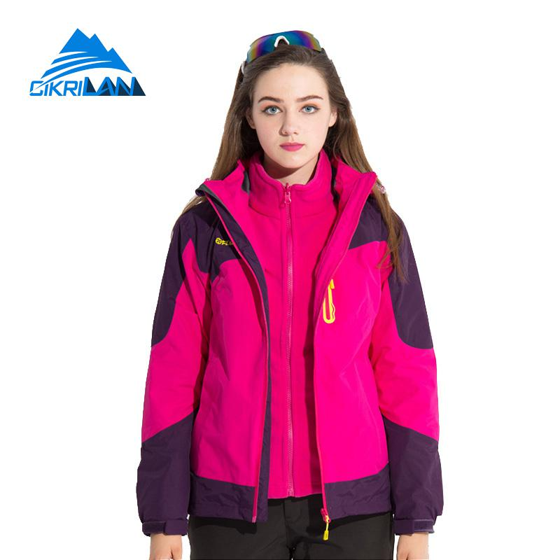 2017 Winter Waterproof Ski Outdoor Jacket Women Hiking Climbing Camping Coat Windbreaker Trekking Jaqueta Feminina Fleece Lining new outdoor sport windbreaker waterproof jacket men hiking camping skiing climbing winter coat fleece lining jaqueta masculino