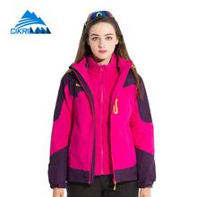2017 Winter Waterproof Ski Outdoor Jacket Women Hiking Climbing Camping Coat Windbreaker Trekking Jaqueta Feminina Fleece Lining