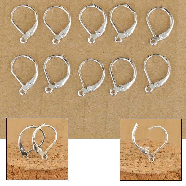 ④Nave rápida libre 100 unids hacer joyas plata color pendiente del ...