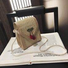 2019 Fashion Simple Straw Square Women Shoulder Bag Handmade Woven Bohemian Handbag Summer Beach Lady Wicker Rattan