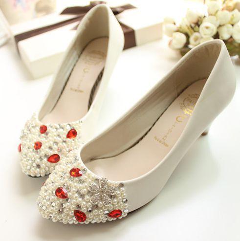 ФОТО Just Perfect!!! Full heavy beads rhinestone bridal shoe middle heel party pumps shoe the heel custom made wedding shoe XNA 097