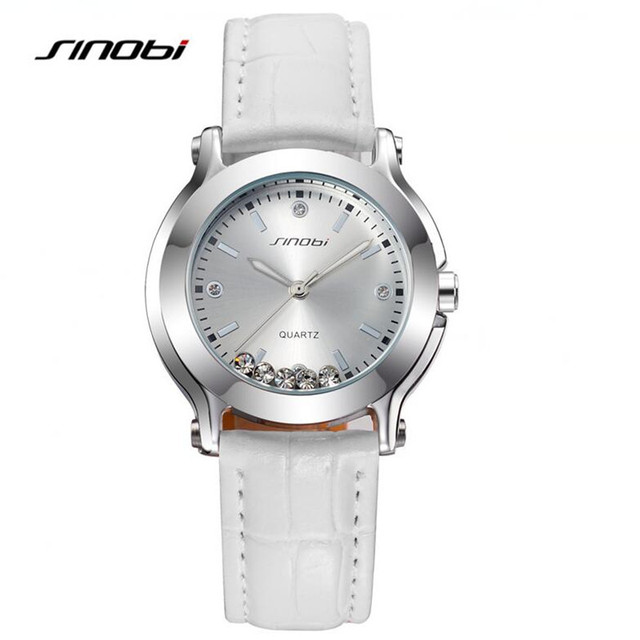 SINOBI Diamonds Quartz-Watch Luxury Brand Watches Women Colorful Fashion Ladies Watches Waterproof Reloj Mujer Clock AB2136
