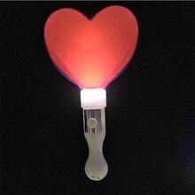 Costume Leds 100pcs lot Glow Love Stick Led Flash Wand Light Heart Wands  Rally Rave 49817e7b224d