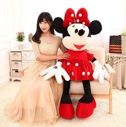 46-100 cm 3 Farbe Mäuse Mickey Maus Minnie Maus Plüsch Spielzeug Weiche Gute Qualität Liebhaber Valentinstag geschenk Puppe Film Cartoon
