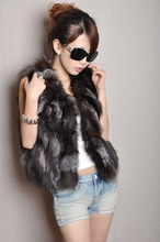 Free shipping genuine real natural Fox fur vest /Waistcoat Women's clothing Style Newest In Stock custom big size 80-120 bust