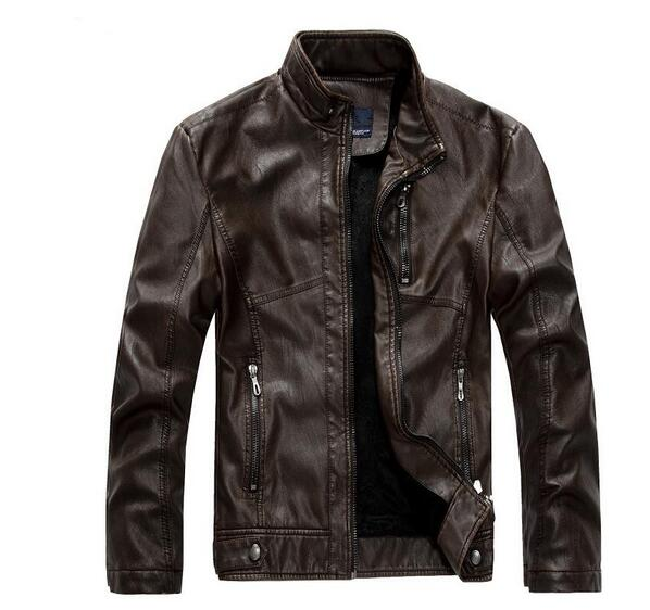 very high quality mens leather jacket coat 2017 men motorcycle Thicken leather jackets men Slim-fitting leather coat plus size