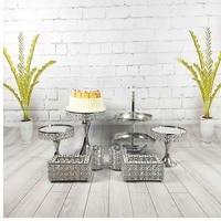 5pcs 8pcs/set mirror cupcake mirror cake stand set silver & gold color display sweet cake decoration