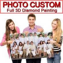 Foto Feita Sob Encomenda! Personalizado privada! 5d diy pintura diamante! Faça sua própria pintura diamante quadrado completo diamante strass bordado