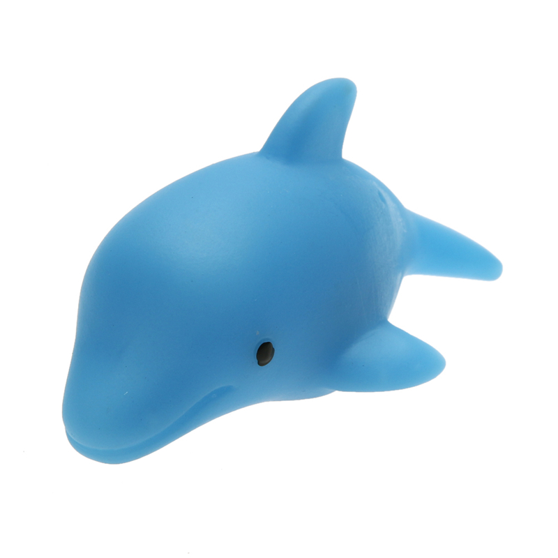 Small Baby Bath font b Toys b font Newborn Cute Cartoon Animal LED Flashing Dolphin Lamp