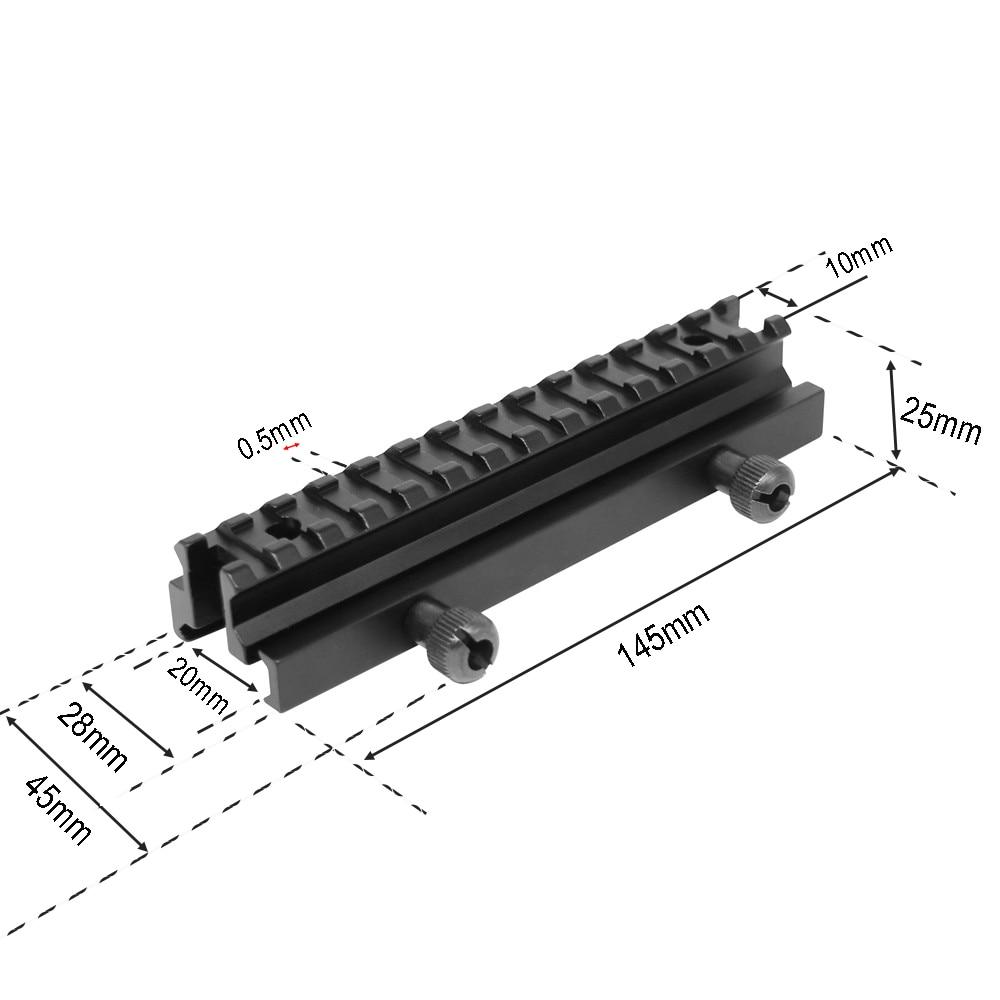 "14 Slots 1//2/"" Riser Scope Mounts Base 20mm Picatinny Weaver Rail Mount Adapter"