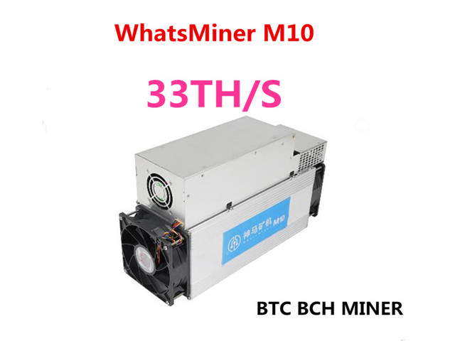 US $1070 0 |Newest Asic Bitcoin BCH BTC Miner WhatsMiner M10 33TH/S 65W/T  Better Than Antminer S9 S9i S9j T9+ M3,Low Power Consumption-in Block