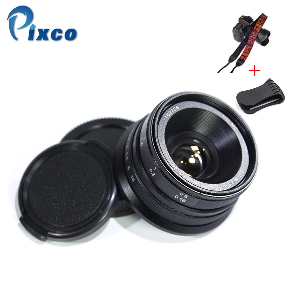 Pixco for NEX M4 3 25mm F1 8 HD MC Manual Focus Lens for E Mount