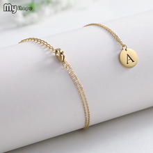 My Shape 2019 Gold and Silver Necklace Letter A Decorative Pendant Necklaces Decorate Stainless Steel Jewelry