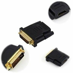Image 4 - Ale, aby hdmi dla kobiety do DVI kabel konwertera DVI 24 + 1 na adapter hdmi dla Monitor projektor hdtv