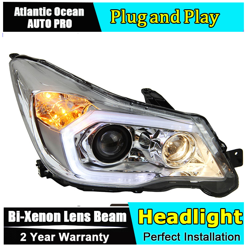 Car Styling LED Head Lamp For Subaru Forester headlights 2013 2016 LED Headlamps angel eyes led