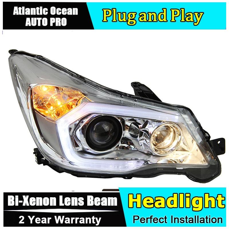 Car Styling LED Tête Lampe Pour Subaru Forester phares 2013-2016 LED Phares angel eyes led drl HID KIT bi-Lentille Xénon