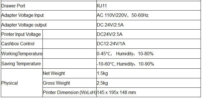 POS Printer Wireless Bluetooth Printer 88MM Thermal Printer