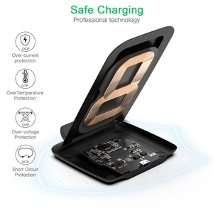 Image 3 - CHOETECH 10W Wireless Charger Stand For iPhone Xs Max Xr X Fast Qi Wireless Charging Charger Dock For Samsung S9 Xiaomi Mi Mix 3