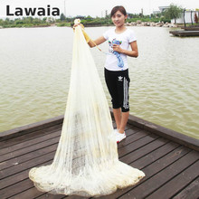 LAWAIA High 4m Fishing Net Cast Nets Mesh 5cm Monofilament Nylon Network Galvanized iron pendant